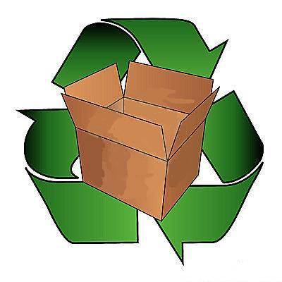 Once Used Recycled Cardboard Boxes